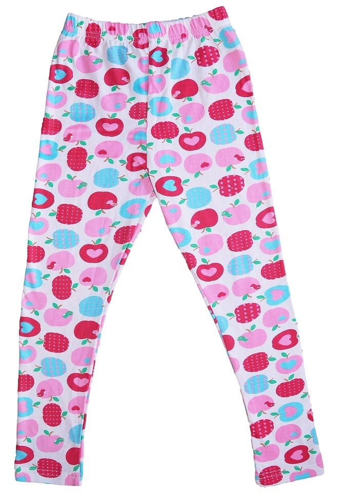 AWESOMR girls Aqua Blue, Pink and red Apple Leggings. $13.95 Check out complete range of Girls leggings at www.duckids.com.au