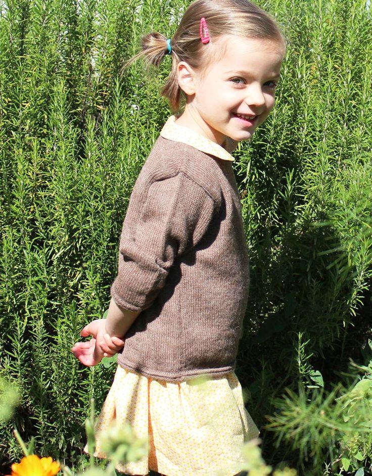 Alpaca baby sweater in natural brown - Wild Wawa