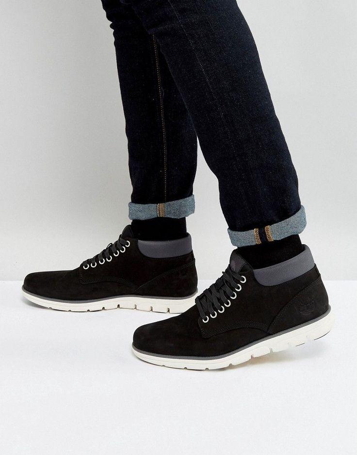TIMBERLAND BRADSTREET CHUKKA BOOTS - BLACK. #timberland #shoes #
