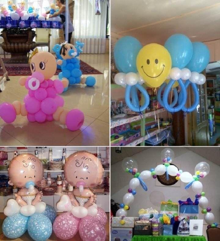 Unas ideas presiosas con globos: decoración para baby shower