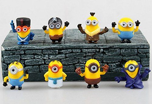 4cm 8pcs Despicable Me 2 Minions Doll Decoration Toys Gift @ niftywarehouse.com #NiftyWarehouse #Minions #DespicableMe #Minion #Movie #Movies #Kids