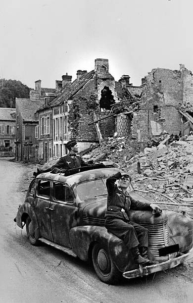 War 1939-1945. German cars on the Normandy front. The end of July 1944. Pin by Paolo Marzioli