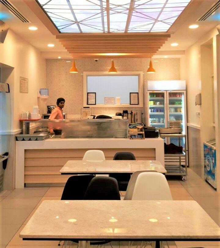 Enchanting ambience at Zulekha hospital cafetaria, Sharjah. Products: Sylvania striplights, Estar down lights , Lumibright FLY spotlights ,Lumideco pendant lights. Credits: Biju and Aji Gangadhar, Commercial Department. #lightingproject #cafetaria #cafelighting #zulekhahospital #sharjah #shj #ambience #decor #interiordesign #wellness #health #illumination