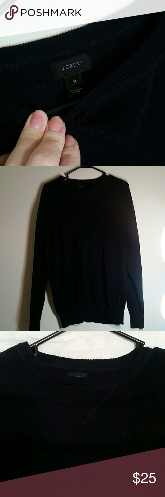 J. CREW MENS CREWNECK SWEATER Dark Navy J. Crew crew neck sweater. Excellent used condition. I accept reasonable offers and do bundles! J. Crew Sweaters Crewneck