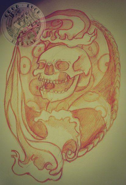 Эскиз для тату #art #рисунок #арт #эскиз #тату #татуировка #картинка #рисунок #картина #творчество #череп #фотография