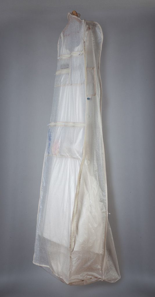 Wedding Dress Garment Bag with Pockets for your jewelry, undergarments, and shoes!