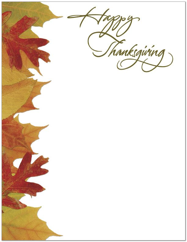 Thanksgiving Border - Clipartion.com