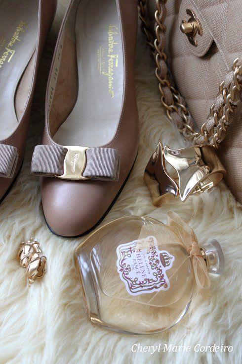 Ferragamo Vara pumps, Hélène Rancé 1975 eau de parfum, Chanel 2.55