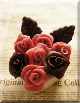「* バラの花 *プラスチックチョコ♪」cherry♪   お菓子・パンのレシピや作り方【corecle*コレクル】