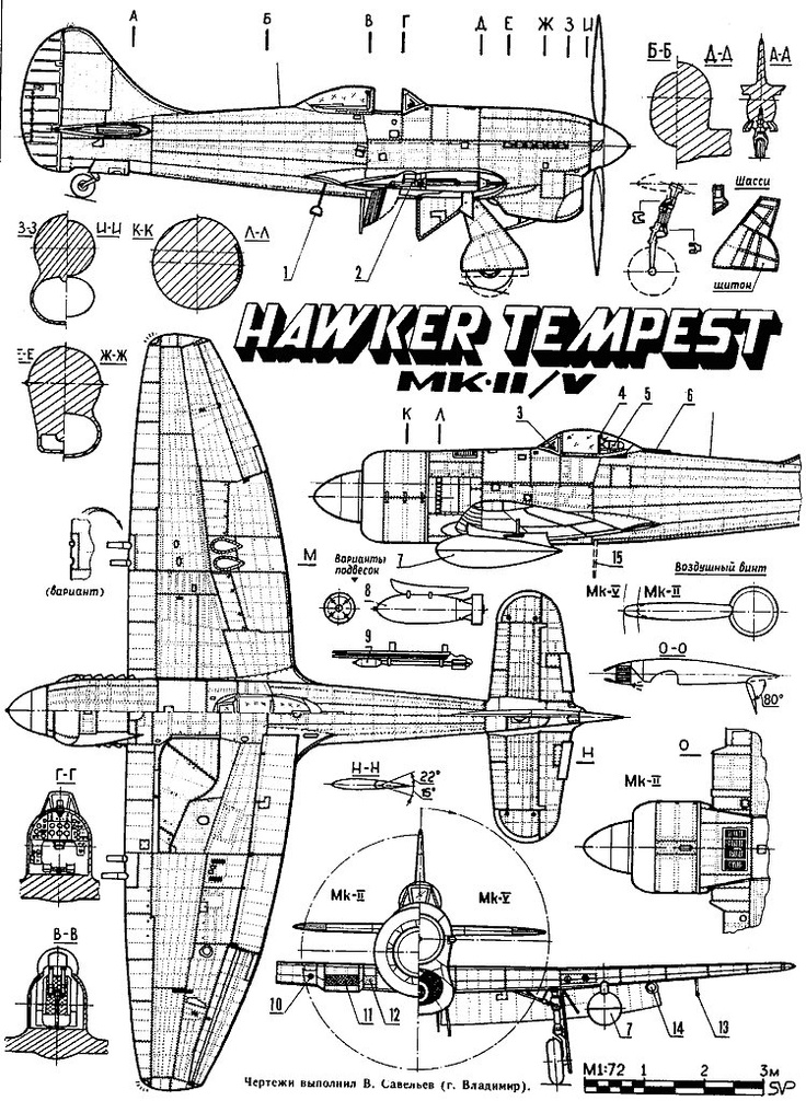 hawker tempest cockpit coloring pages | Hawker Tempest schematic | Supermarine spitfire, Aircraft ...