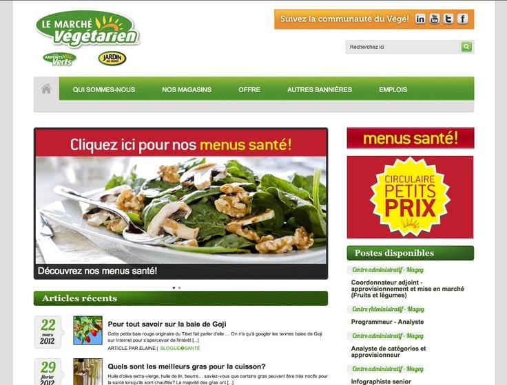 Site Web - Le Marché Végétarien