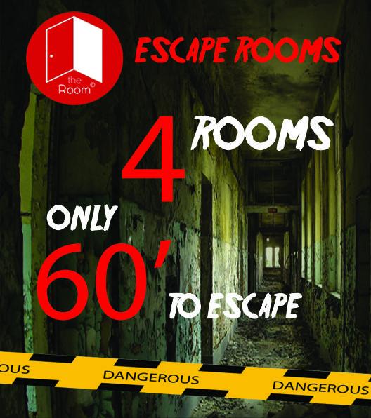 4 Δωμάτια Απόδρασης και 60' για το καθένα.. Έχεις τις δεξιότητες να αποδράσεις? Book Now==>>http://goo.gl/2j08BQ