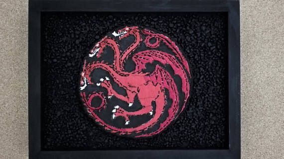 Game of Thrones House Targaryen 3D Emblem