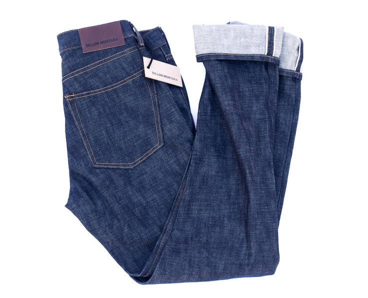 Self Edge Slim Tapered Jean hand made by Dillon Montara