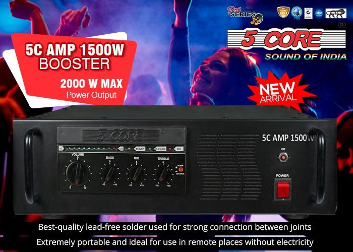 5CORE® introduces 5C AMP 1500 Booster Amplifier having