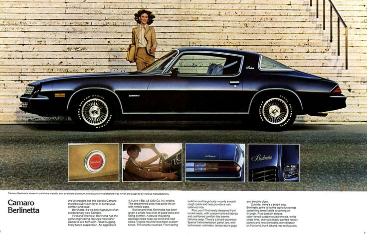 1978 Camaro Berlinetta Advertisement Google Search