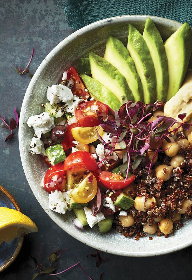 Quinoa bowls are an easy way to load up on both veggies and grains. Try it tonight!