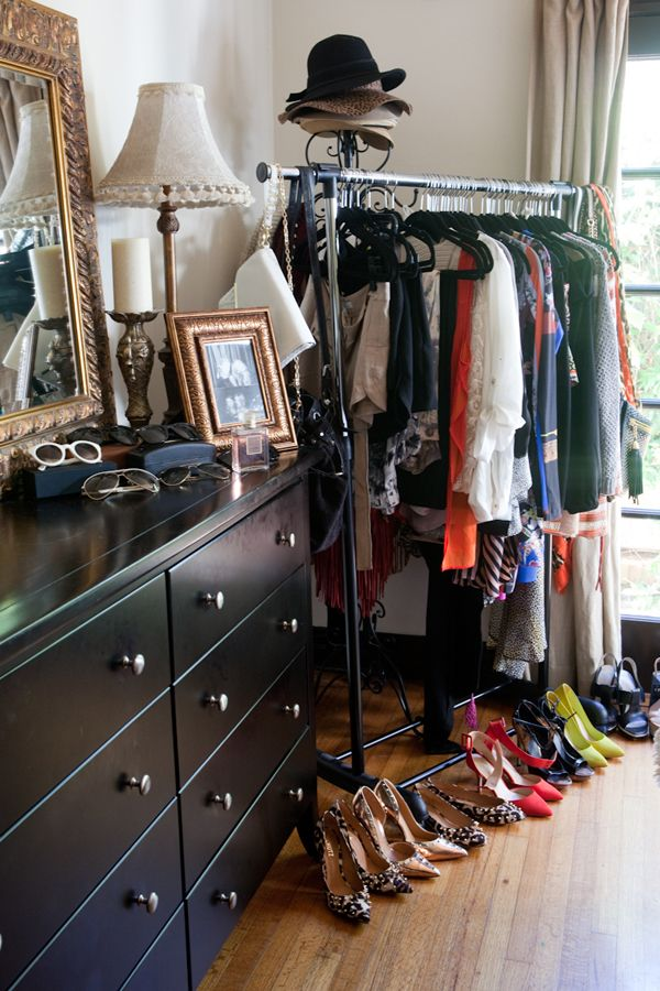 Tour Style Blogger Shea Maries Sunny California Apartment~ I want to put clothes racks like this in my room when I have my own home