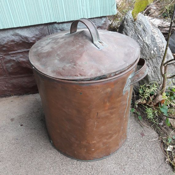 Antique Primitive Round Copper Kettle Boiler From by oldstuffbrad