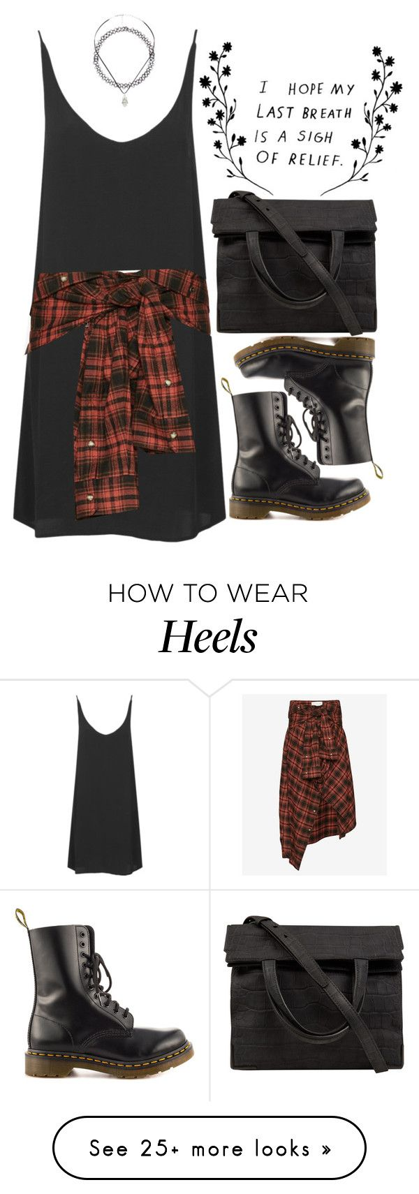 """""""Freja"""" by sombrasdelcarax on Polyvore featuring Topshop, Faith Connexion, Charlotte Russe, Dr. Martens and Alexander Wang"""