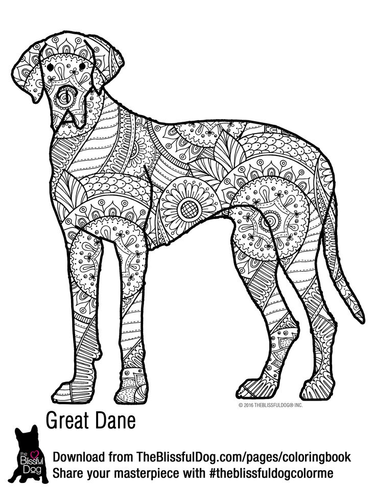 74 best a coloring book pages images on pinterest for Great dane coloring pages