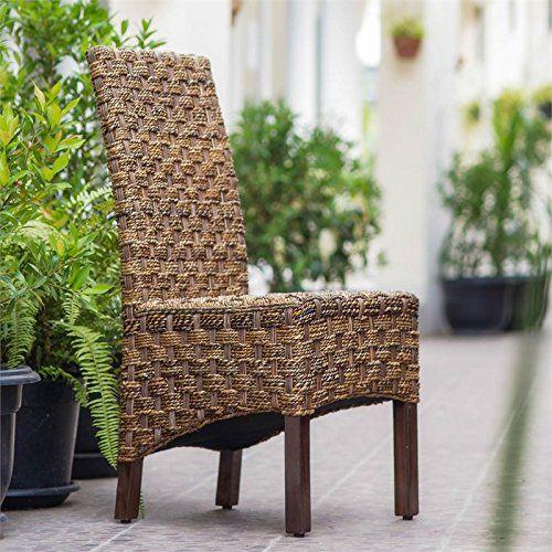 International Caravan SG-3308-1CH-IC Furniture Piece Manila Abaca/Rattan Wicker Dining Chair