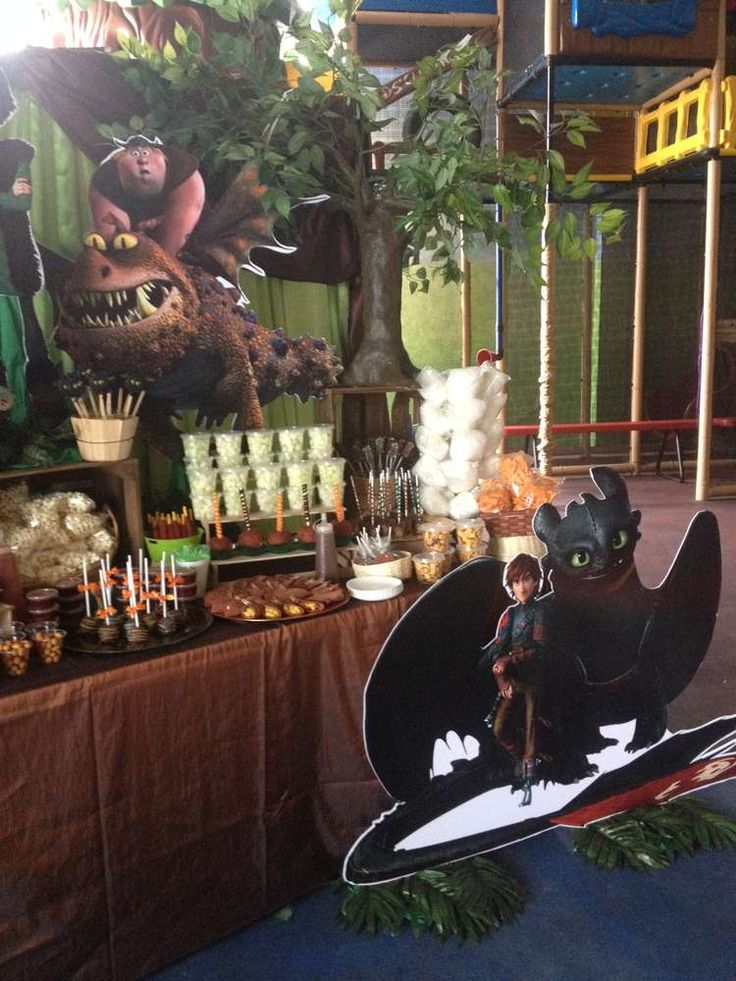 How to train your dragon birthday party! See more party planning ideas at CatchMyParty.com!