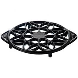 Gloss Black Contemporary Cast Iron Trivet