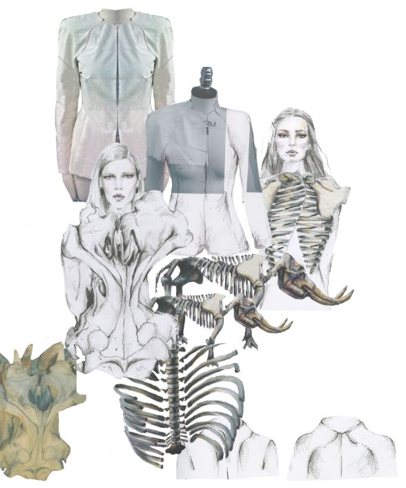 Fashion Portfolio Layout   Tailoring Inspired By Skeletal Structures   Fashion  Design Mood Board; Fashion