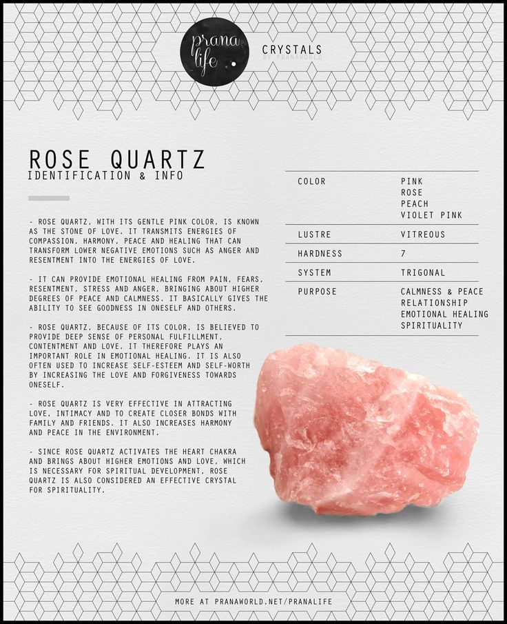 Rose quartz activates the heart chakra and brings about higher emotions and love, which is necessary for spiritual development, rose quartz is also considered an effective crystal for spirituality.