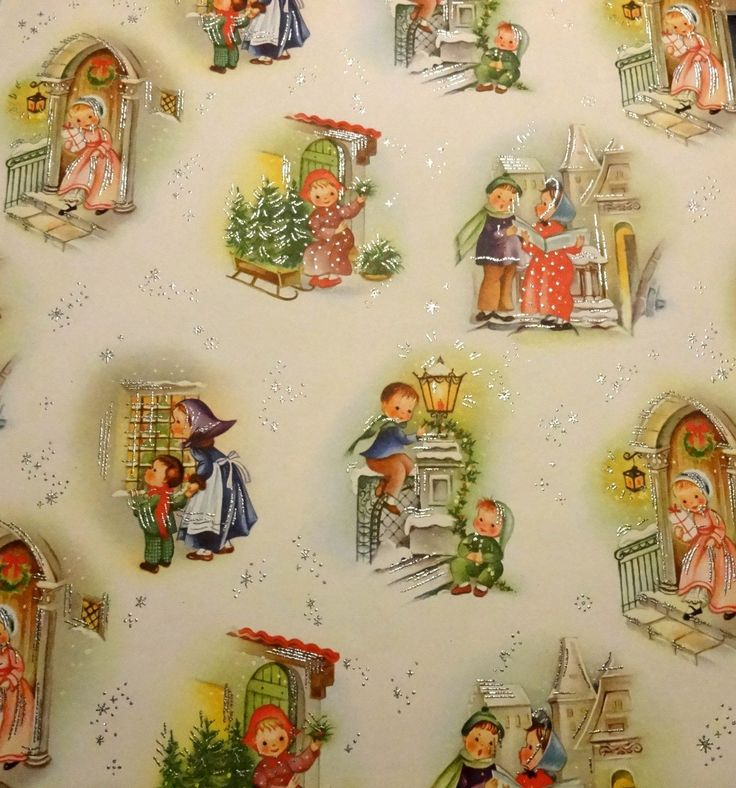 Vintage Retro Reproduction Christmas Wrapping Paper | eBay