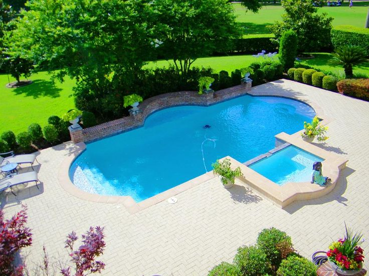 Delight in the view of the sparking pool and spa plus for Pool design course