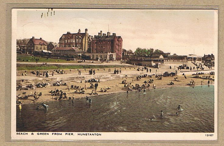 Norfolk-Hunstanton-The Beach and Green from the Pier-Printed Pc-Pu1946? | eBay