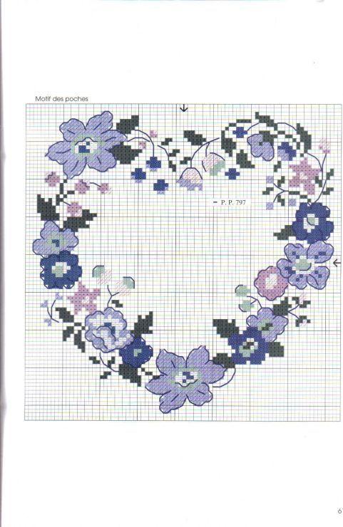 Etamin Şablonları Kalp Desenleri 59 - Mimuu.com