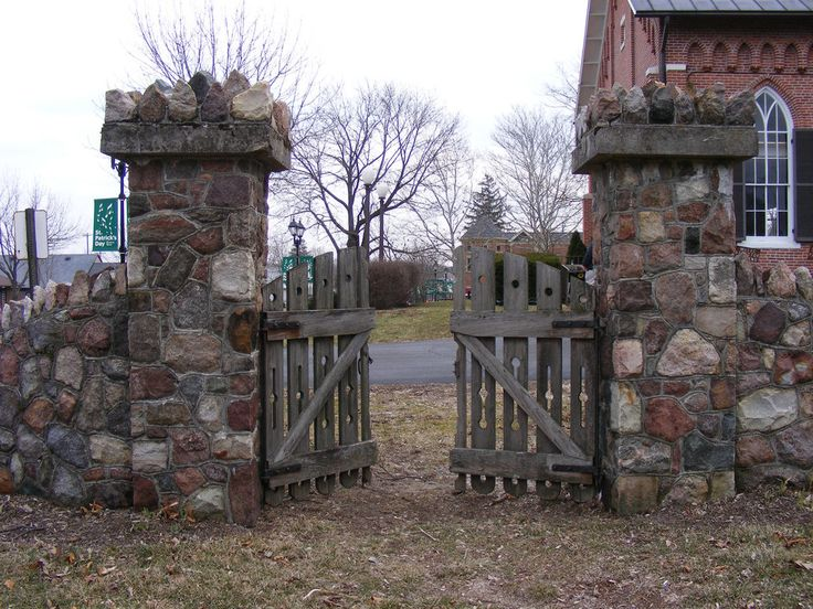 20 Best Rock Wall Gate Images On Pinterest Entrance