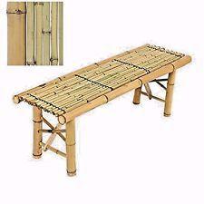 Bamboo Bench Tiki Natural Tropical Coffee Table Bench Patio Room Bar Outdoor New