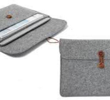 Keçe El Yapımı Düğmeli Tablet Kılıfı