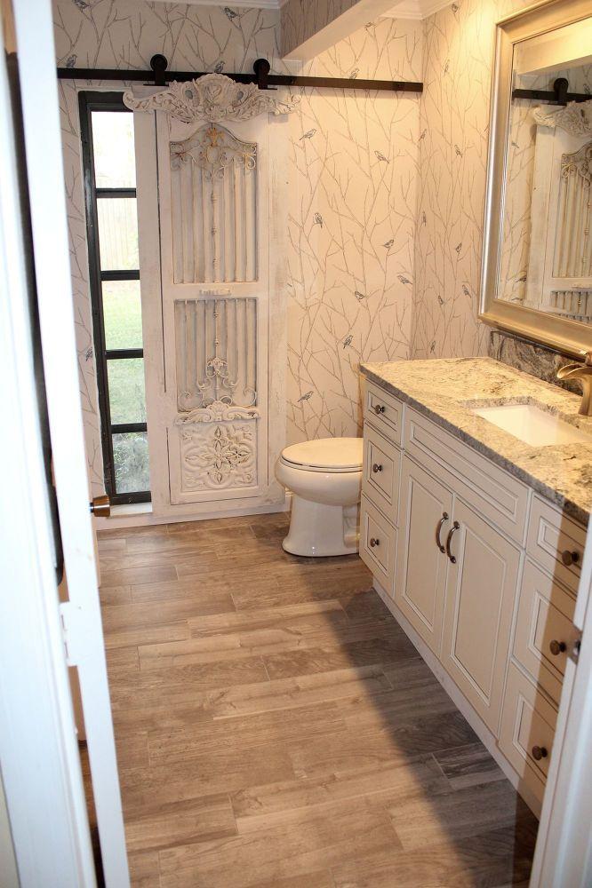 Bathroom Remodel Barn Door Hardware Window Treatments