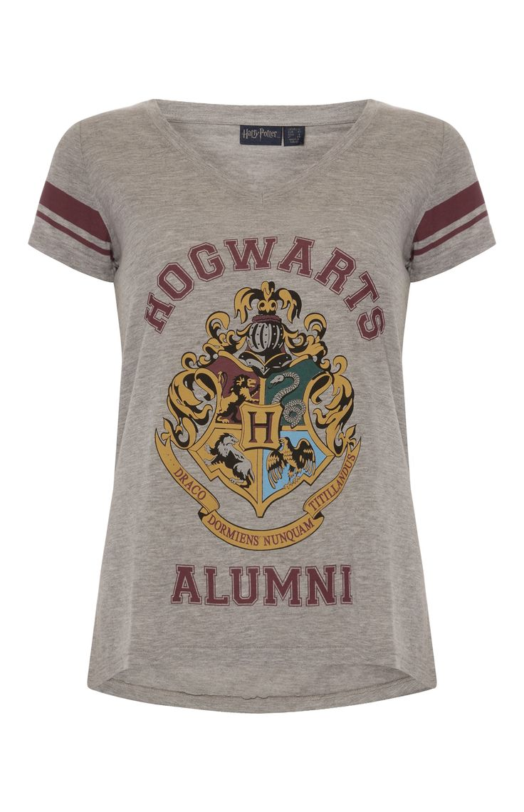 Primark - Grey Harry Potter V Neck T-Shirt