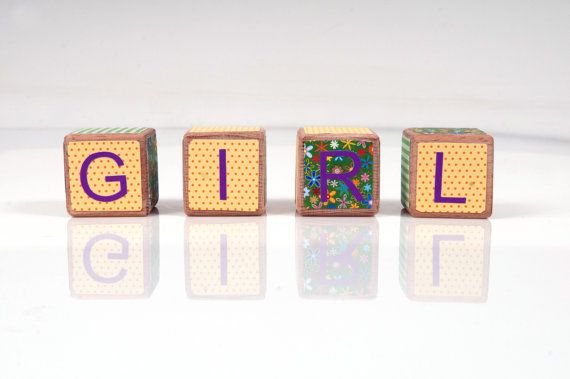 Decorative Wooden Blocks  Girl Nursery Decor  Baby by beigebois, €15.00