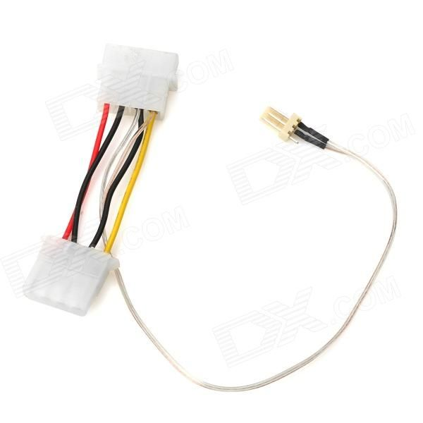 Universal Large 4-Pin to 3-Pin Power Supply Adapter Cable for Computer CPU Fan - White. Brand N/A Quantity 1 Color White Material Copper wire Interface Type Large 4-Pin to 3-pin Application Suitable for computer fan power supply adapter Packing List 1 x Adapter cable. Tags: #Computers/Tablets #Networking #Cables #Adapters #Computer #Cable #Adapter