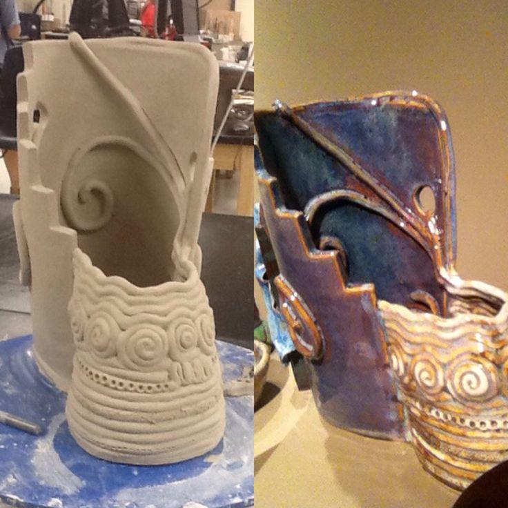 before  u0026 after glaze abstract ceramics