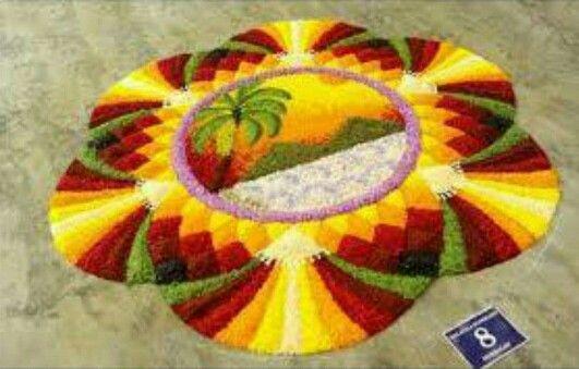 Flower carpet competition
