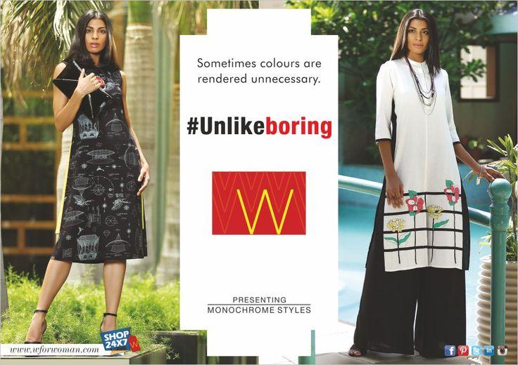 Less is more this season. Be a minimalist. Be #Unlikeboring. #WForWoman #WomensFashion