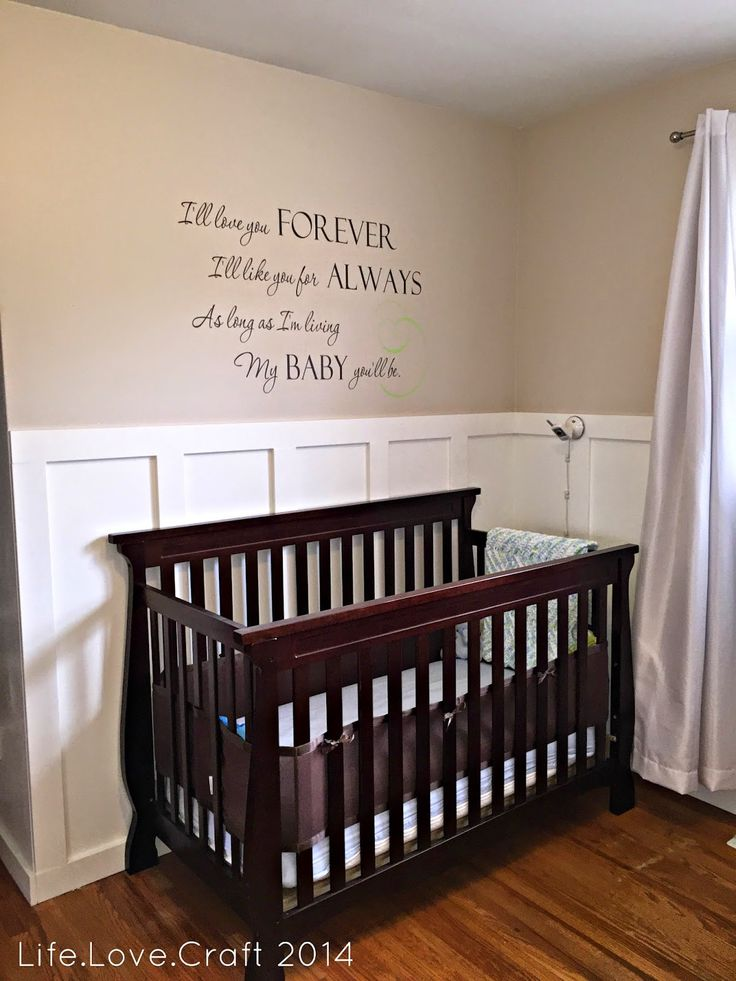 Nursery before and after