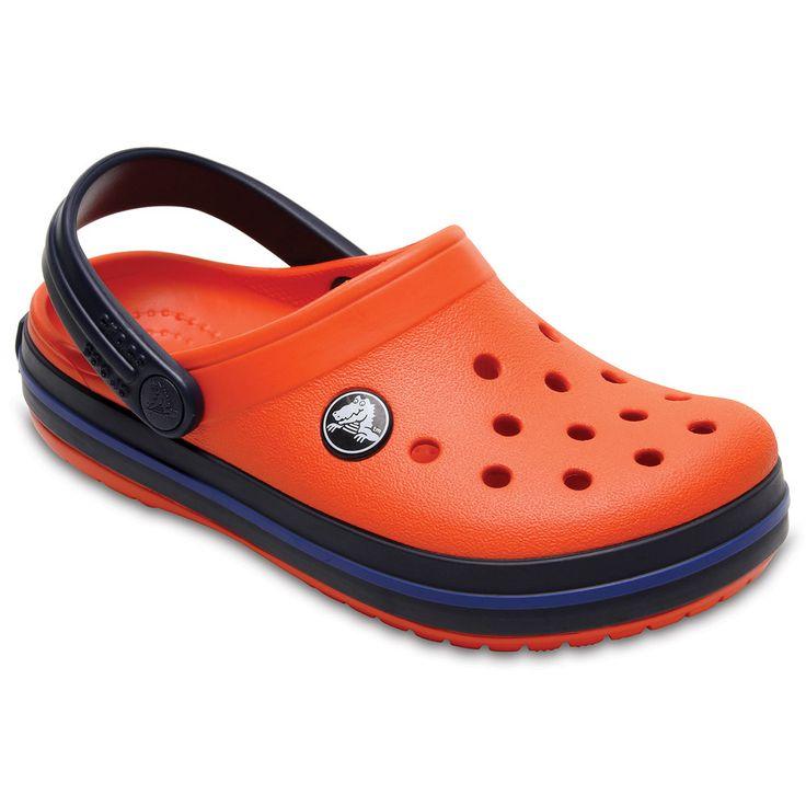 Crocs Crocband Kids' Clogs, Kids Unisex, Size: 10 T, Drk Orange
