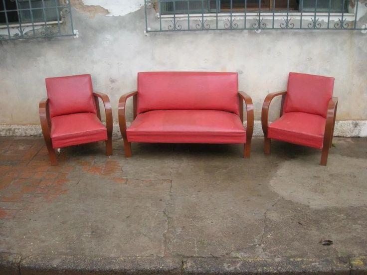 Antigo Jogo De Sofá / Namoradeira Art Deco ( Raro ) - R$ 1.200,00 em Mercado Livre