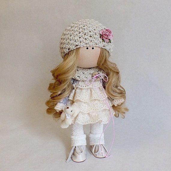 Handmade doll Rag doll Interior doll Soft por AnnKirillartPlace