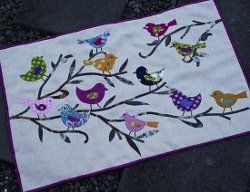 Birds and Branches Applique Wall Quilt | FaveQuilts.com