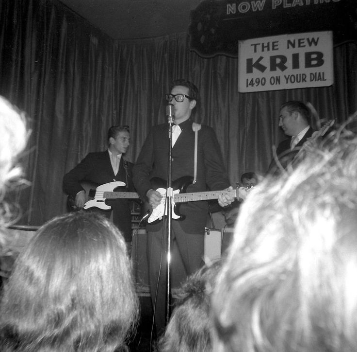 Last photo of Buddy Holly taken the night of the plane crash (Feb 2 1959)